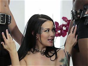 Katrina Jade gets a multiracial honeypot filling three-way