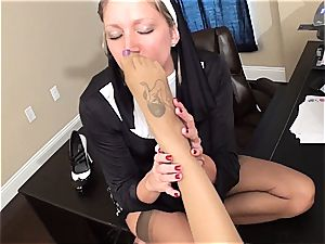 insane nun punishes a bad nymph with pleasing her fetish thirst