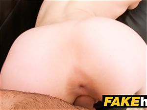 faux Agent creampie for fresh redhead yankee model