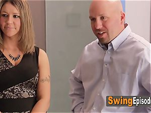 Married duo luvs pre soiree act with other swingers