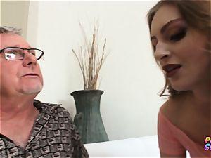 PervCity anal invasion slut Maya Kendrick entices senior teacher