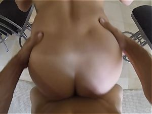 super-cute Keisha Grey banged point of view