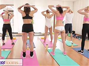 FitnessRooms After gym class sweat-soaked intercourse sessions