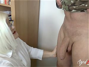 AgedLovE Lacey Starr plumbing rock-hard with Soldier