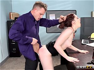 crimson hot assistant Ember Stone punished by her chief