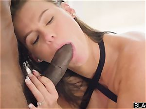 chesty superstar Peta Jensen with a ideal figure takes two fat black penises in her snatch