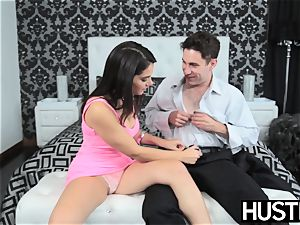 huge-chested stunner Valentina Nappi makes boy cum firm ravaging