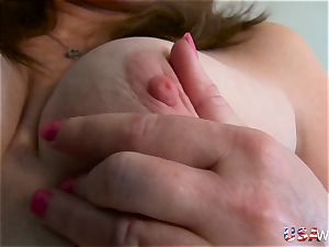 USAwives super hot mature damsel Lisal unwrapping down