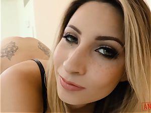 Jade Jantzen sits her ass-hole on some large pecker