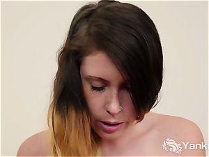 big-titted Bella orgasming
