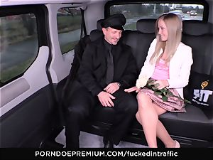 banged IN TRAFFIC - jizm on ass for insatiable slim towheaded