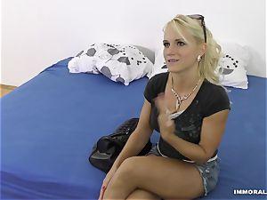 whorey blonde Lana Rhoades screwed
