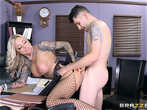 red-hot Headmistress Britney Shannon gets her palms on a mischievous student