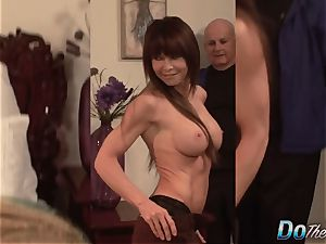 spectacular Jenla Moore screws while her husband watches