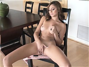 appetizing Ariana Marie softcore solo getting off