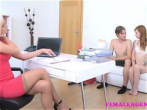 FemaleAgent mischievous agent witnesses and jerks