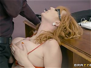 Lauren Philips slit wedged by monster man-meat