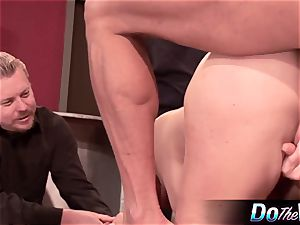 ash-blonde wifey gets her bung plugged