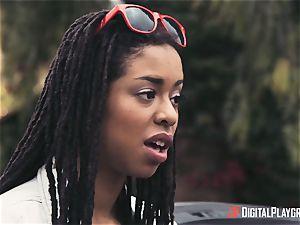 Outdoor bi-racial pussy love with Kira Noir and Jessa Rhodes