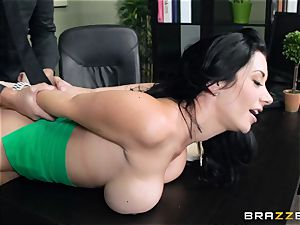 big titted chief Jayden Jaymes boinks her new worker
